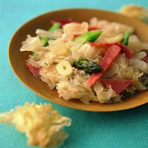 白木耳炒蘆筍