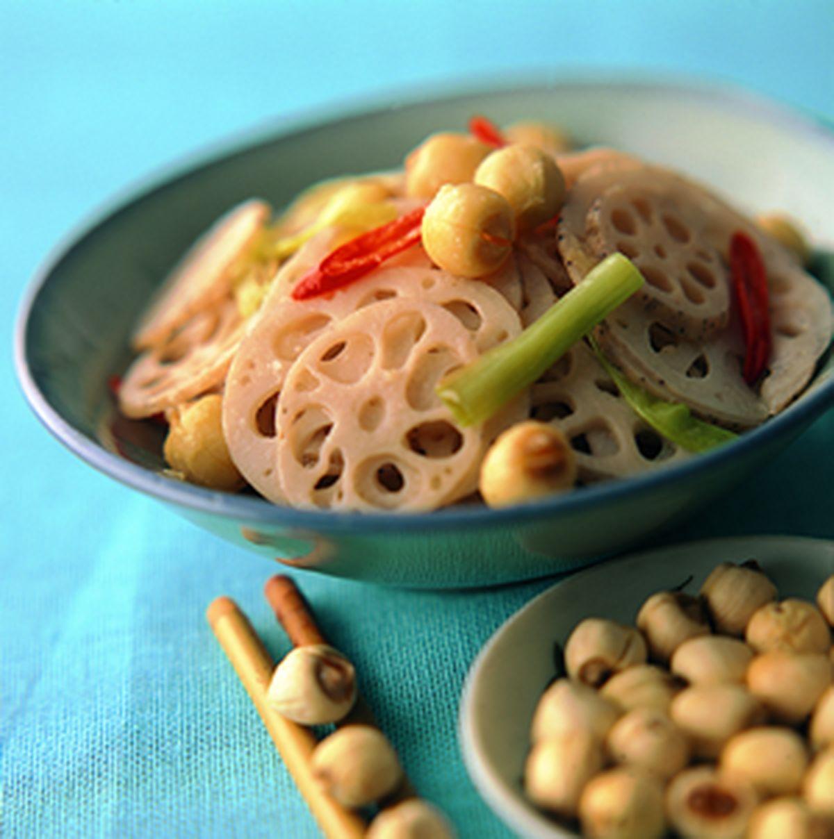 食譜:蓮子炒蓮藕片
