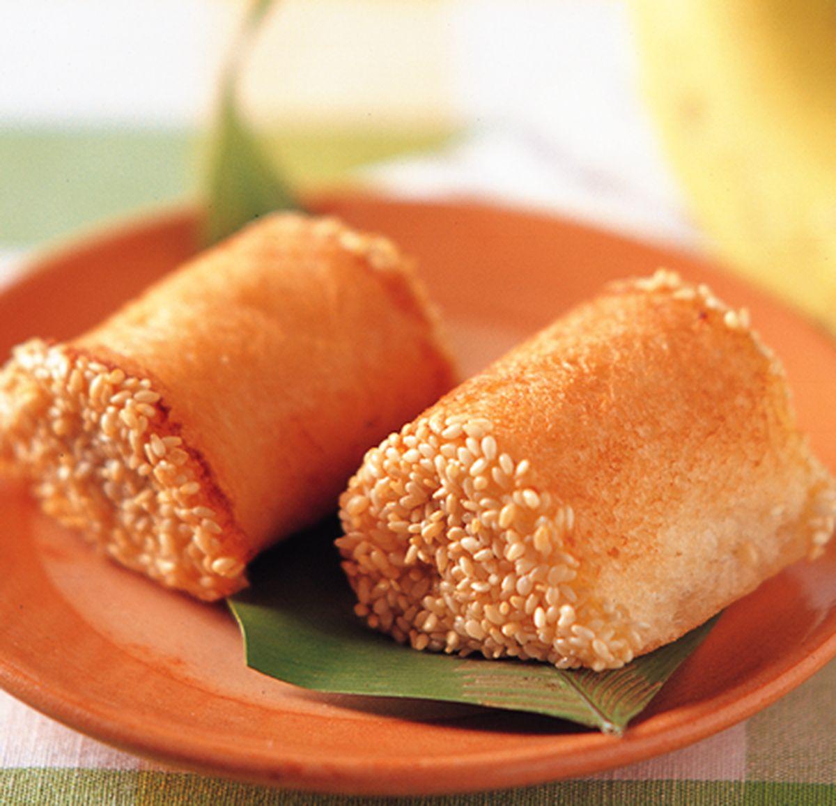 食譜:香蕉芝麻卷