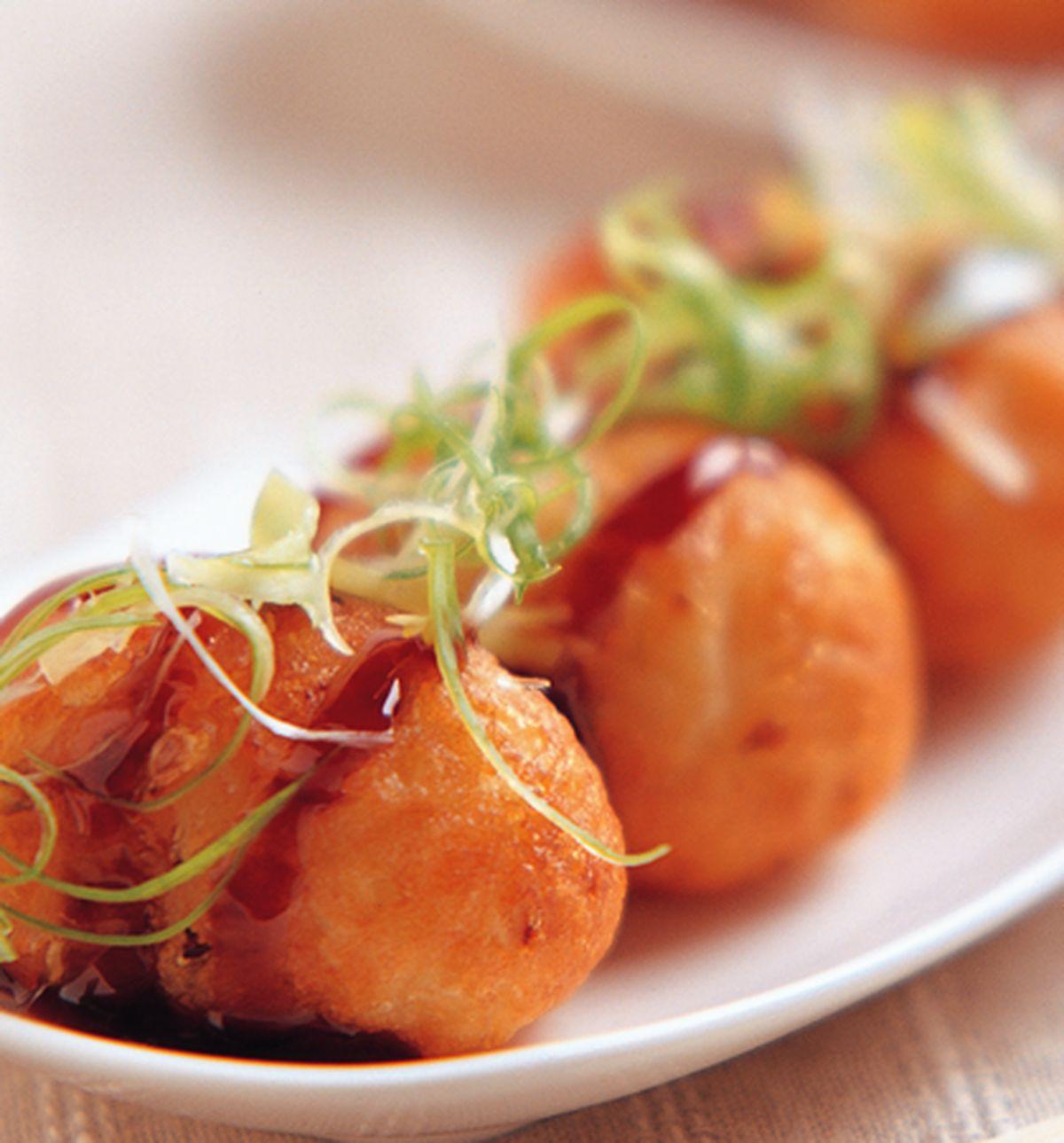食譜:芝麻蔥香章魚燒