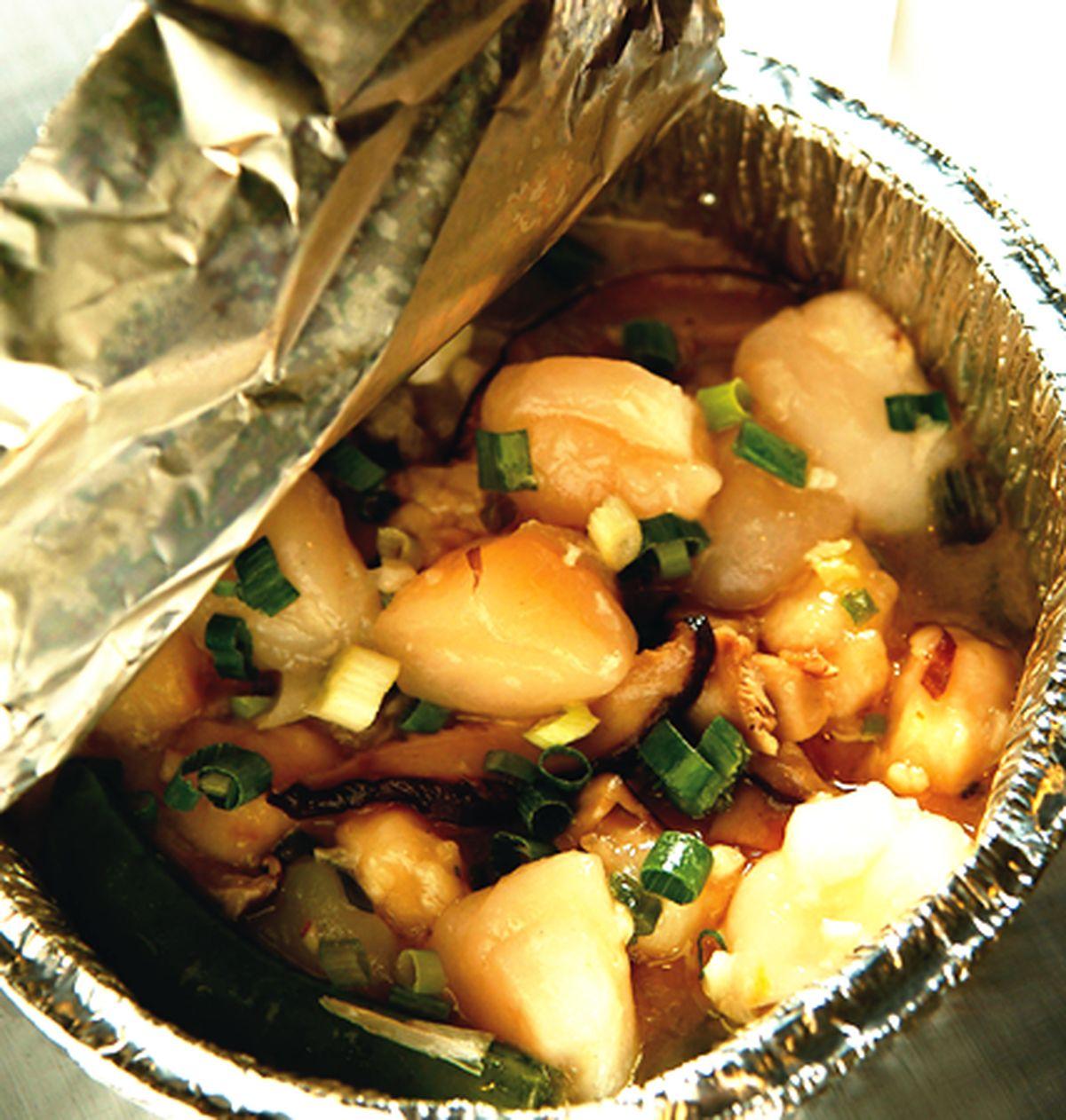食譜:【盒燒】奶油蒜香干貝