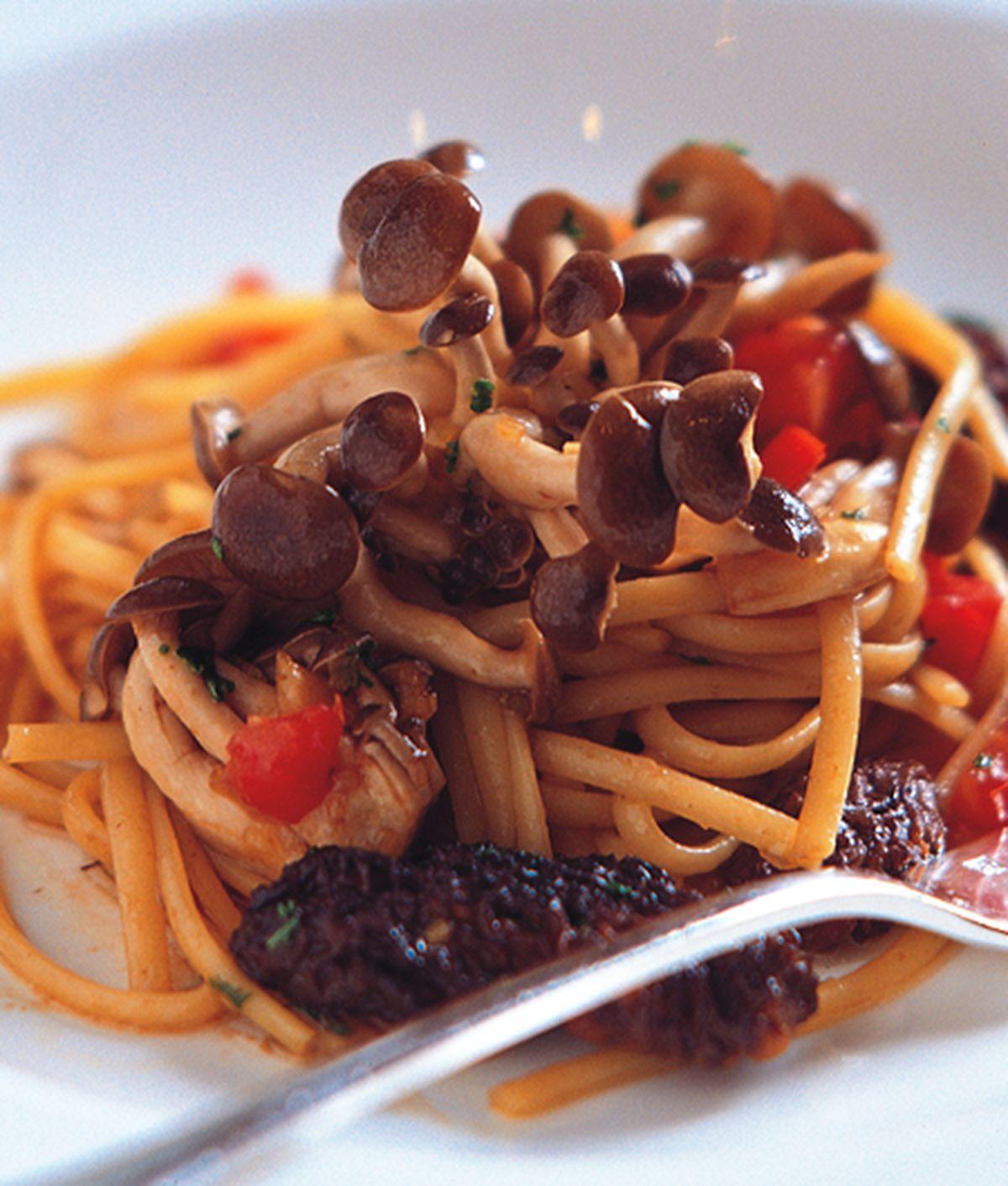 食譜:野菇燴義大利麵