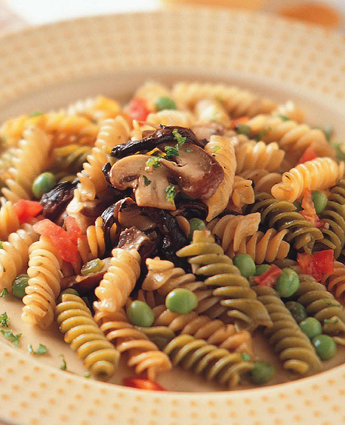 食譜:青豆蘑菇螺旋麵