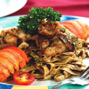 牛肝菌蝦菇香料寬麵