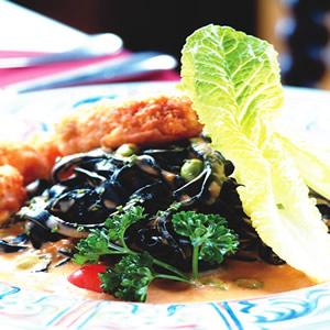尼斯明蝦黑寬麵