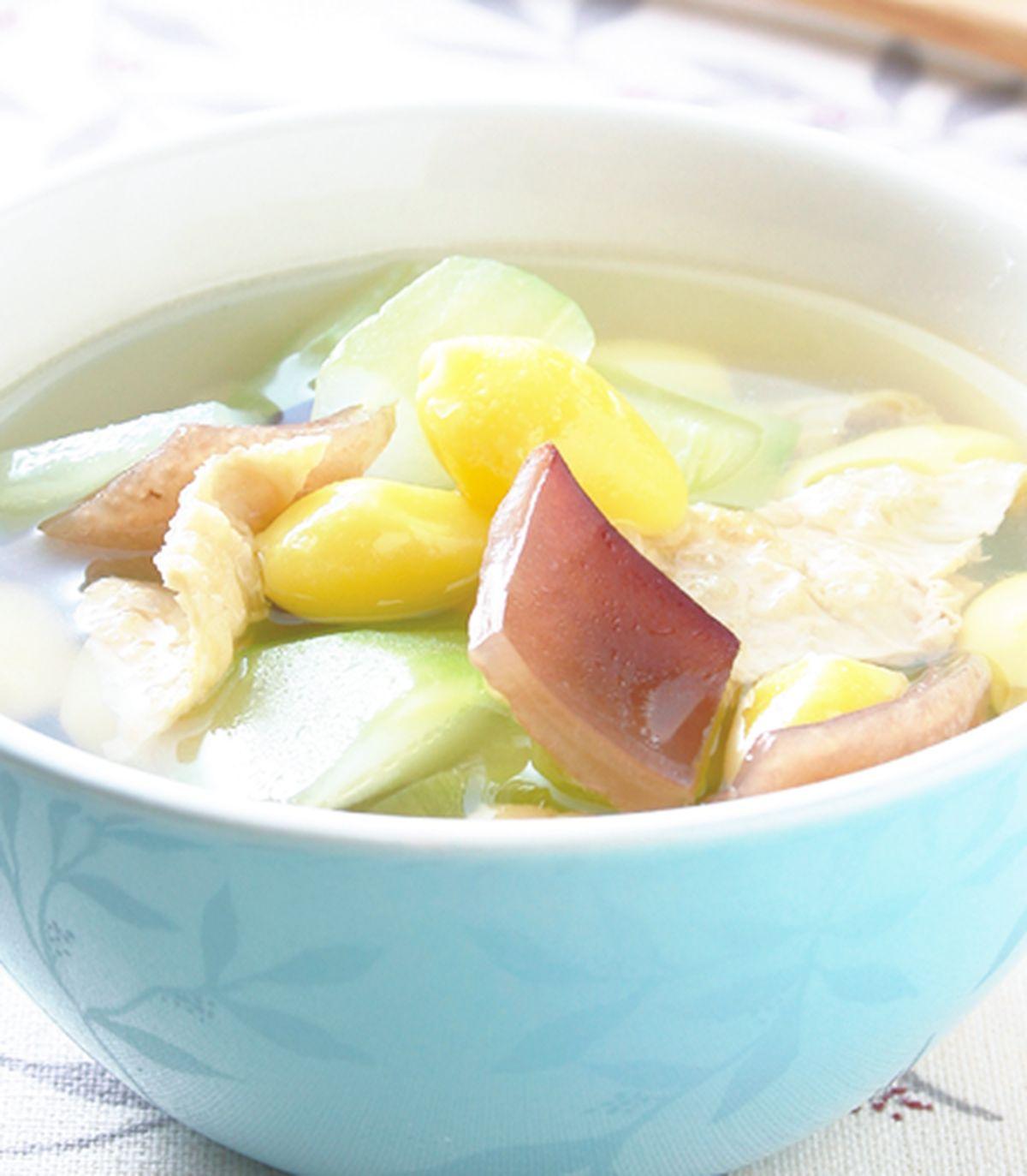 食譜:黃瓜白果豆皮湯