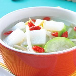 絲瓜蒟蒻芽菜湯