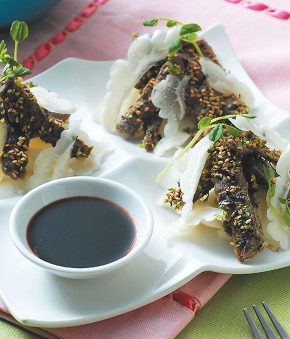 食譜:牛柳輕依涼瓜山