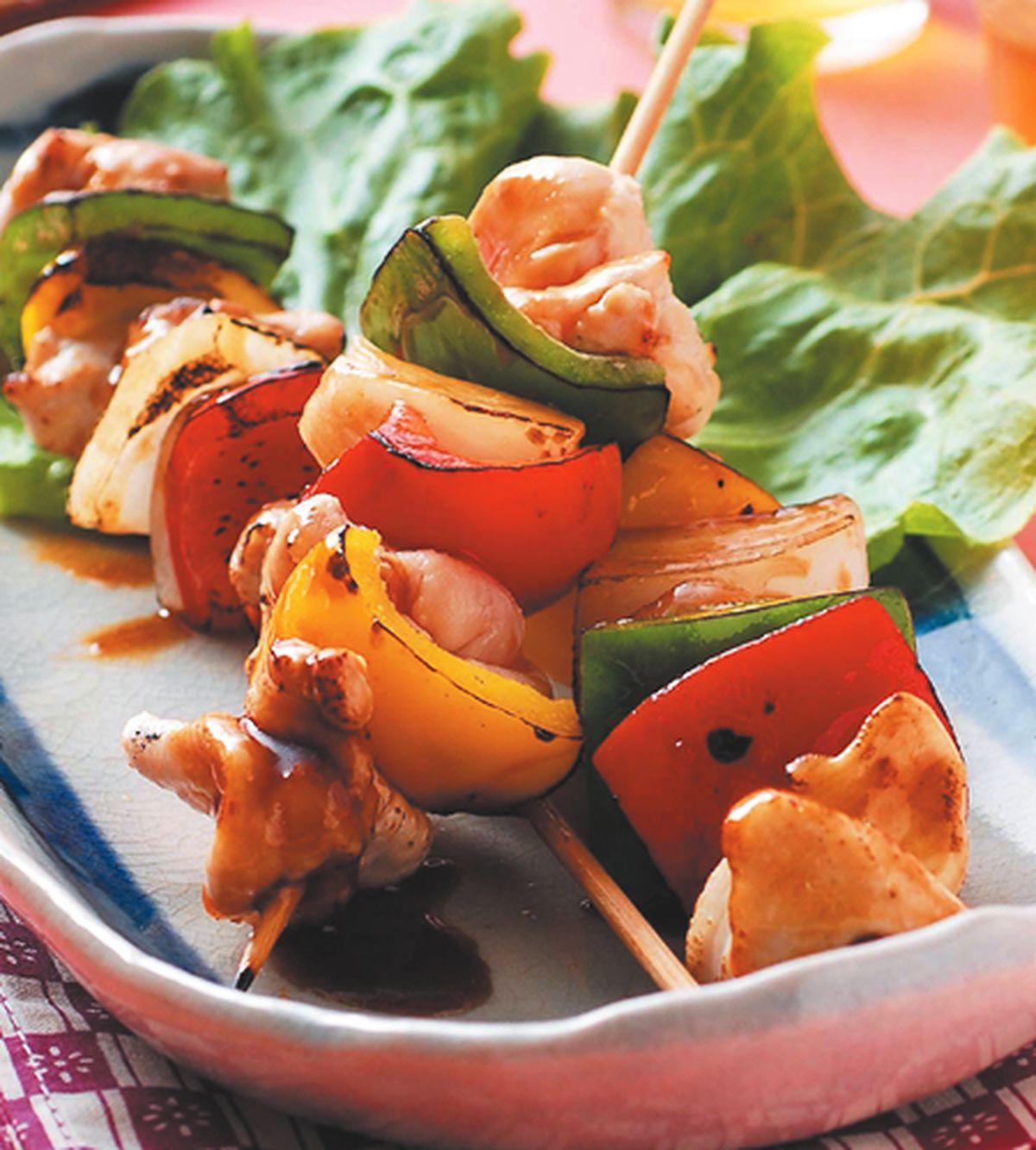 食譜:彩梅串肉