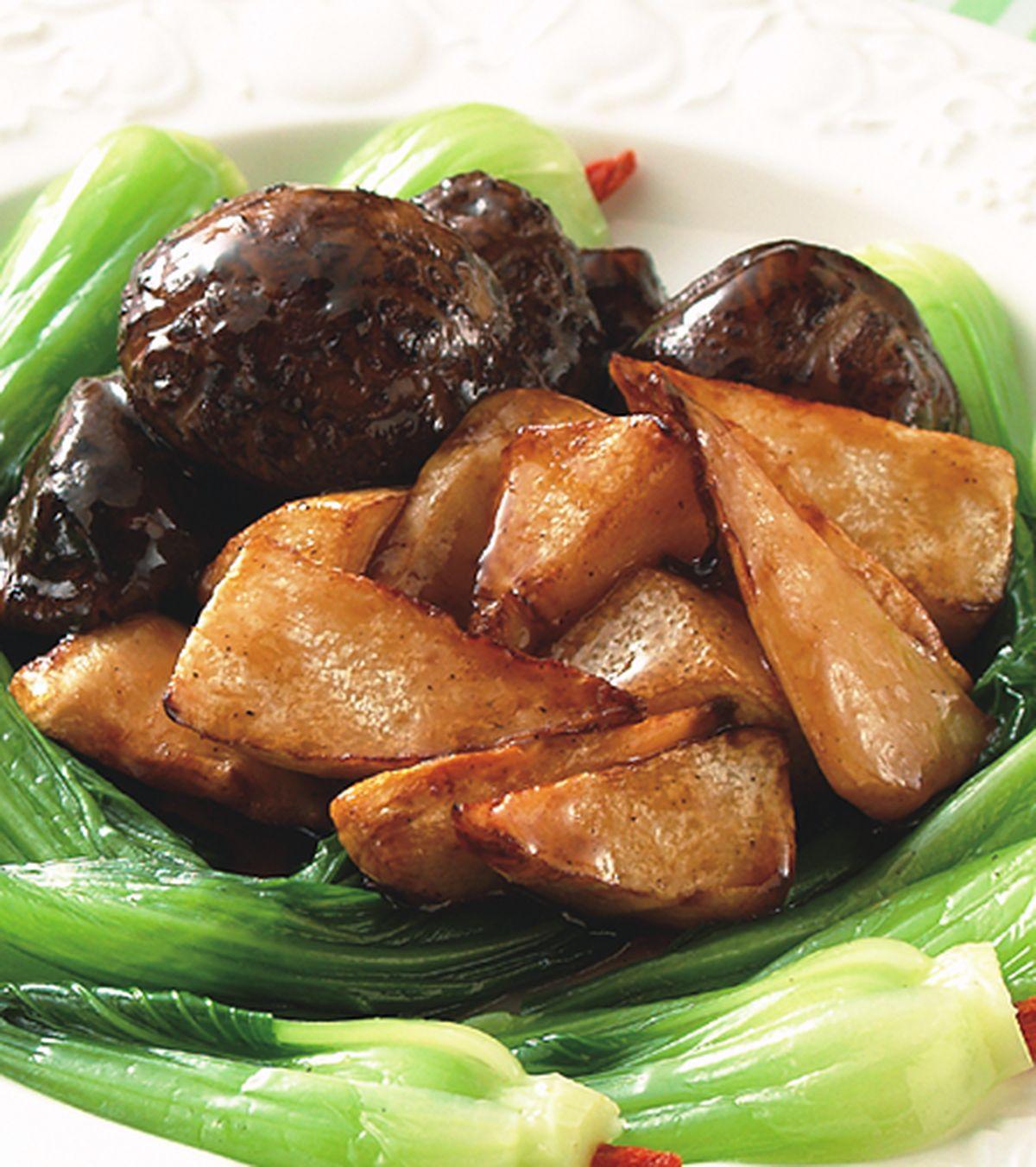 食譜:雙冬扒青江