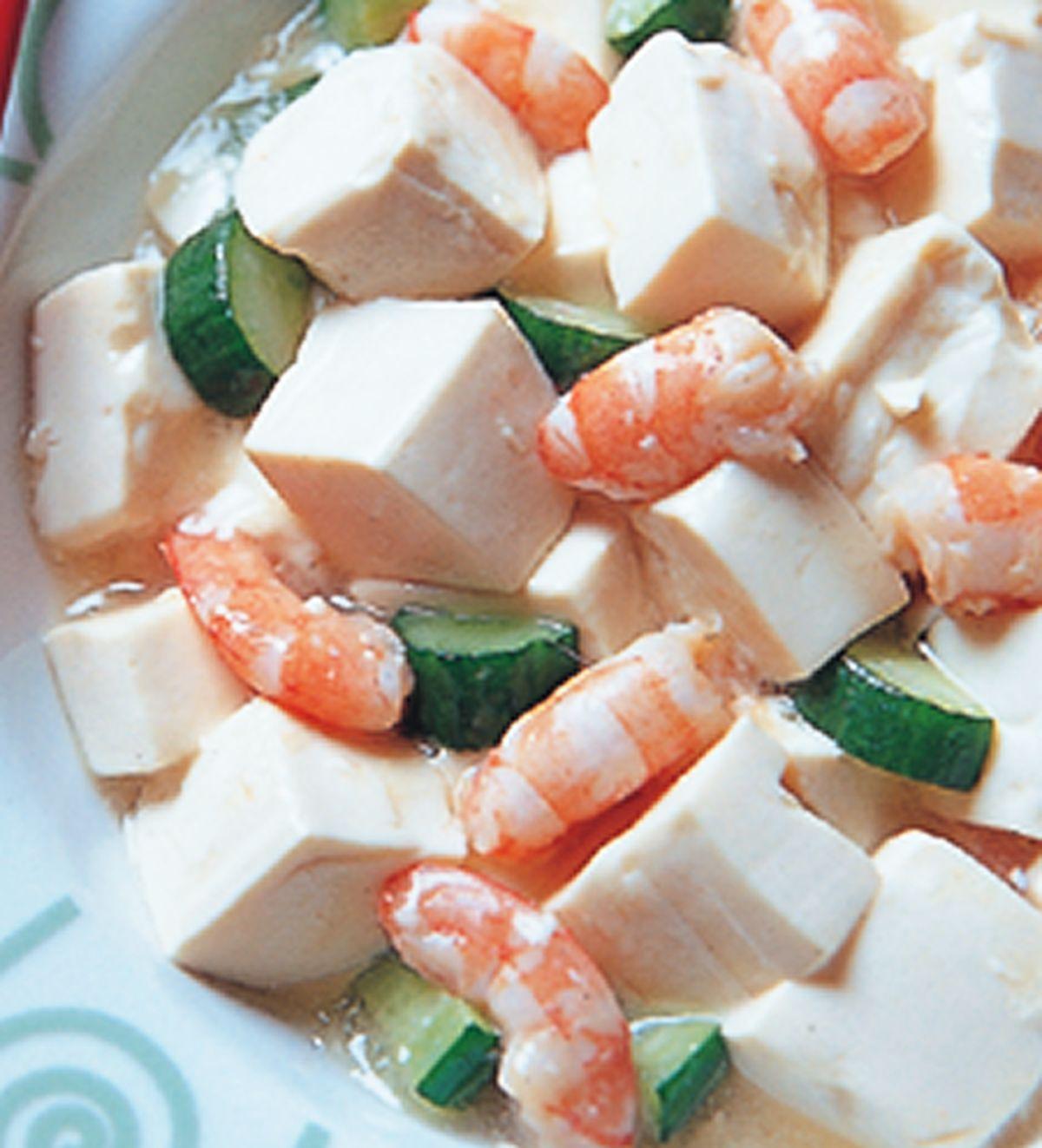 食譜:蝦仁燒豆腐