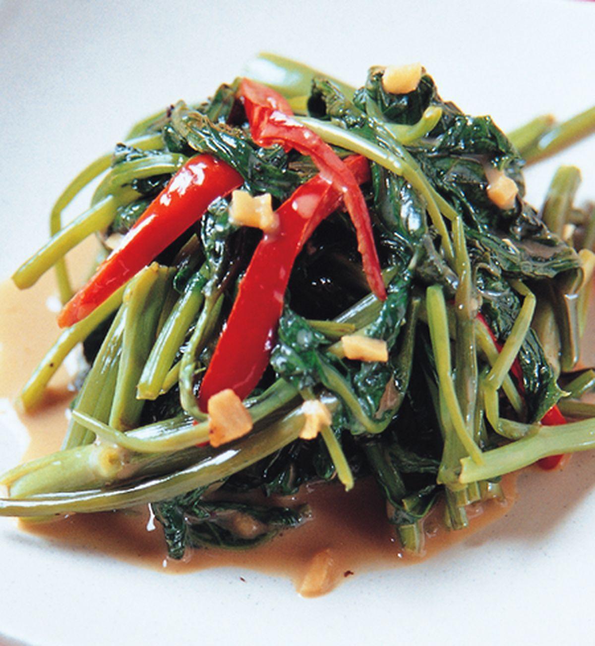 食譜:豆腐乳炒空心菜