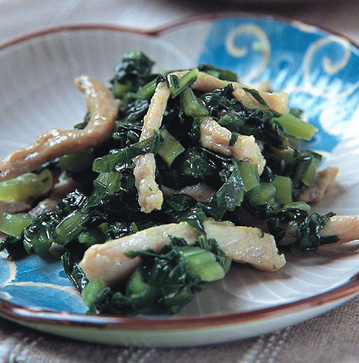 食譜:雪菜肉絲