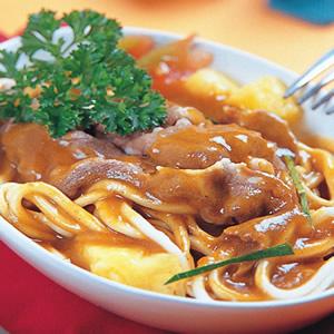 鳳梨咖哩牛肉麵