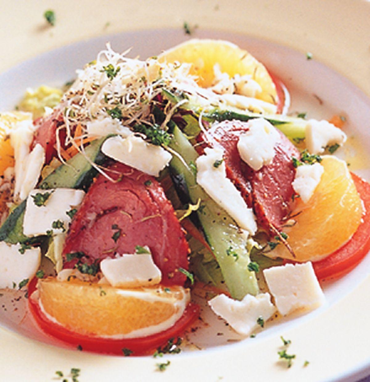 食譜:牛肉起士沙拉