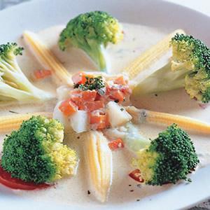 藍黴起士燴蔬菜