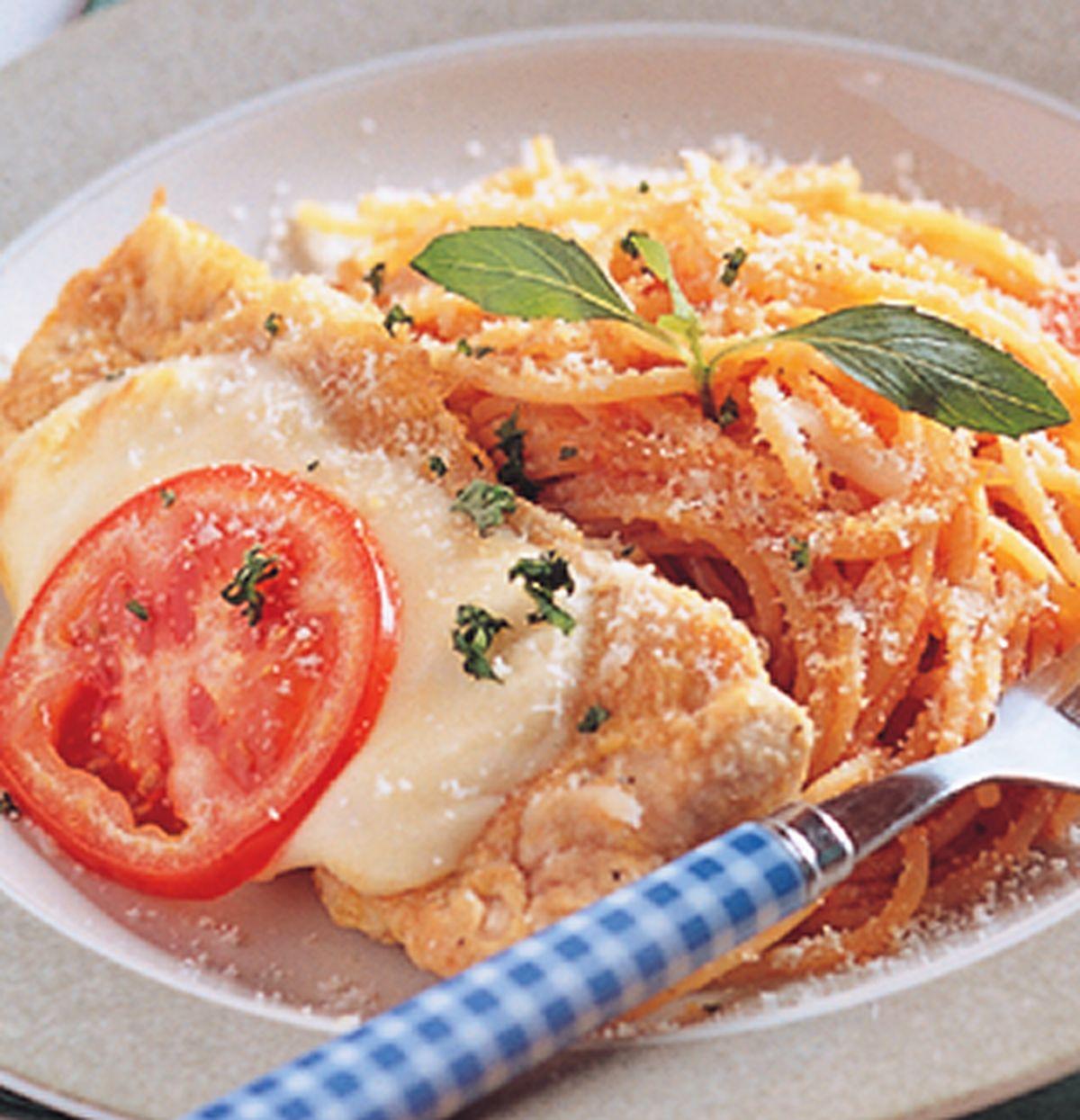 食譜:起士豬排蕃茄麵