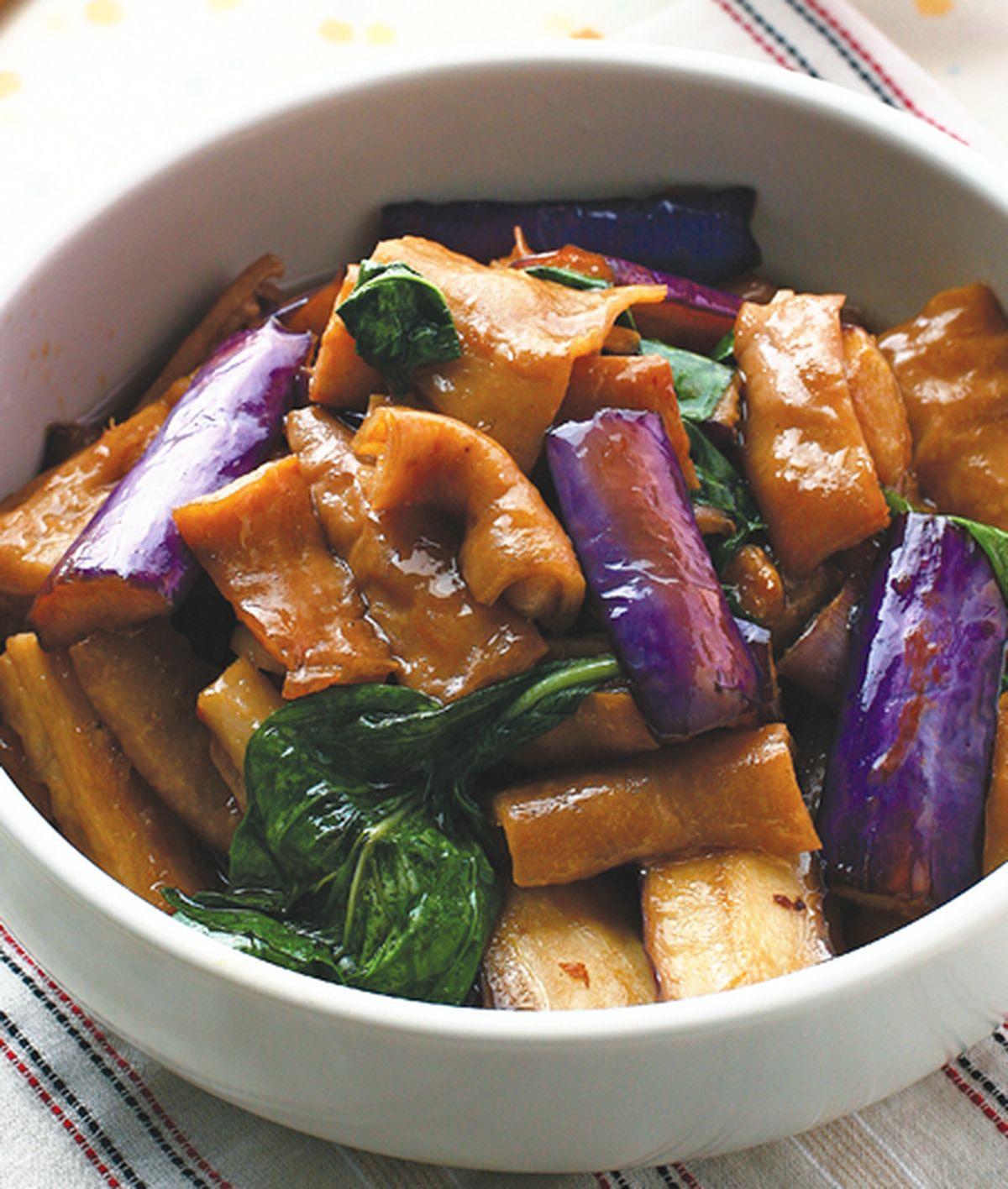 食譜:肥腸茄子煲(1)
