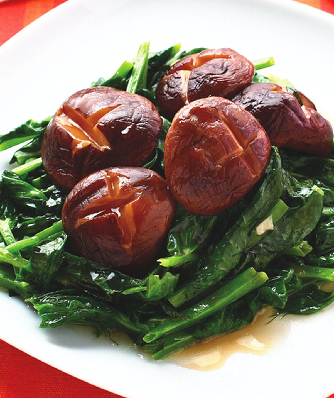 食譜:香菇豆苗
