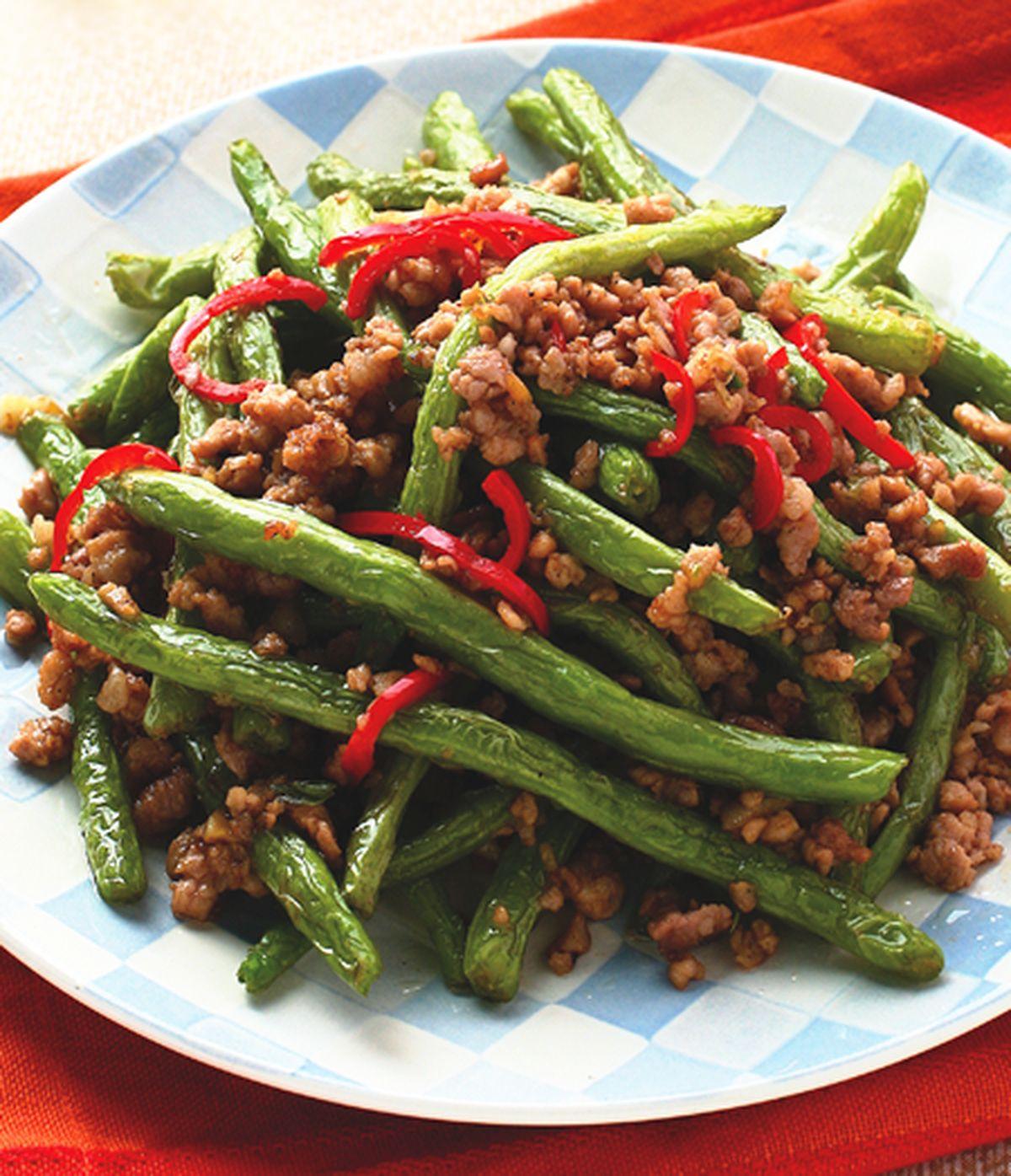 食譜:乾煸四季豆(3)