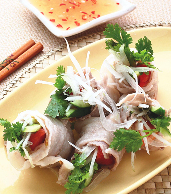 食譜:五花肉生菜卷