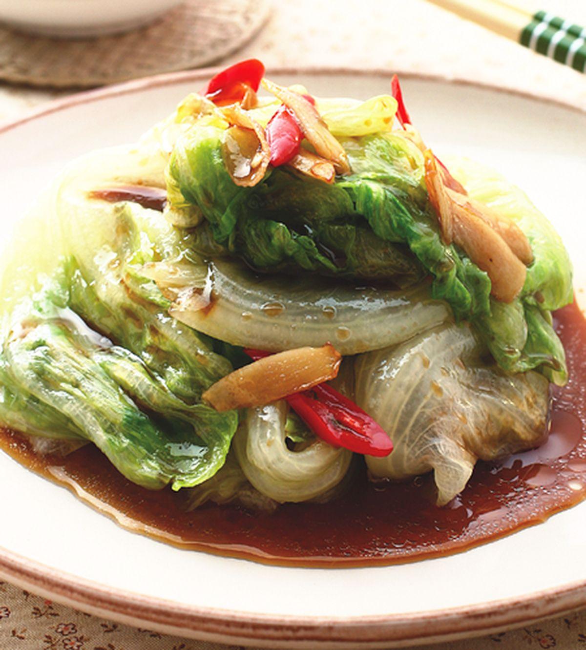 食譜:蠔油美生菜(1)
