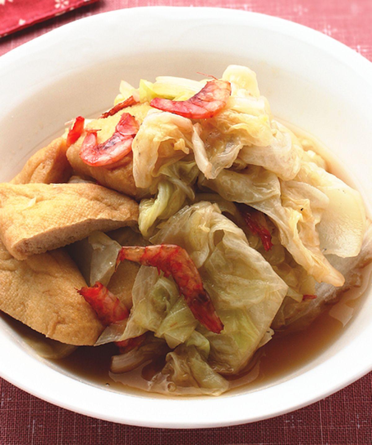 食譜:櫻花蝦白菜煮