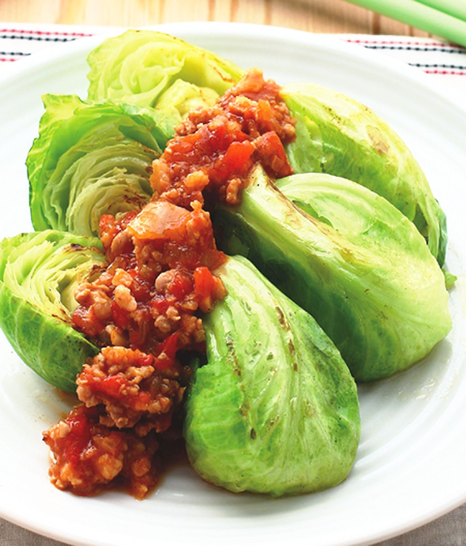 食譜:香煎高麗菜苗