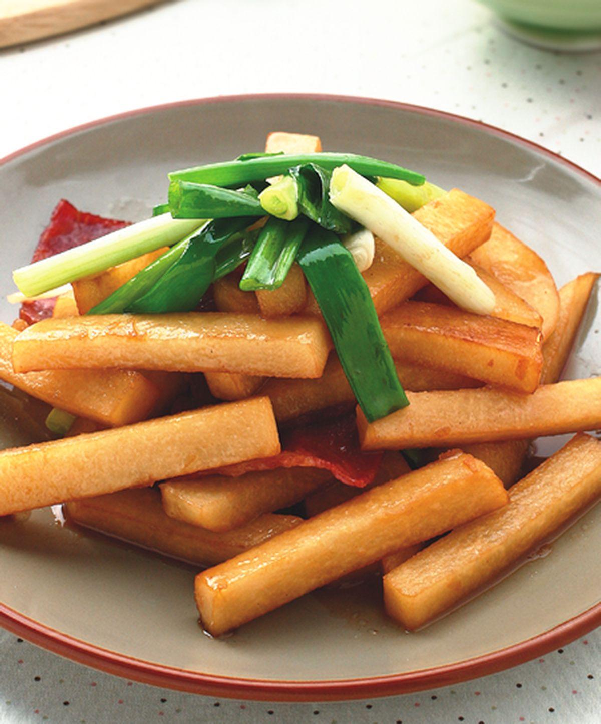 食譜:豆薯炒培根
