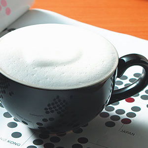 咖啡牛奶泡泡