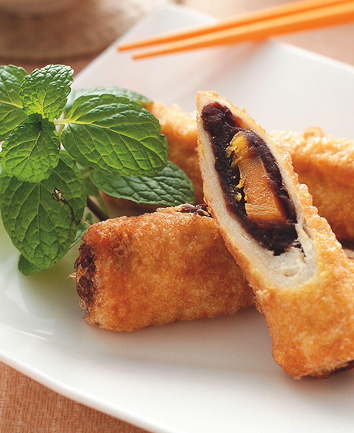 食譜:豆沙蛋黃卷