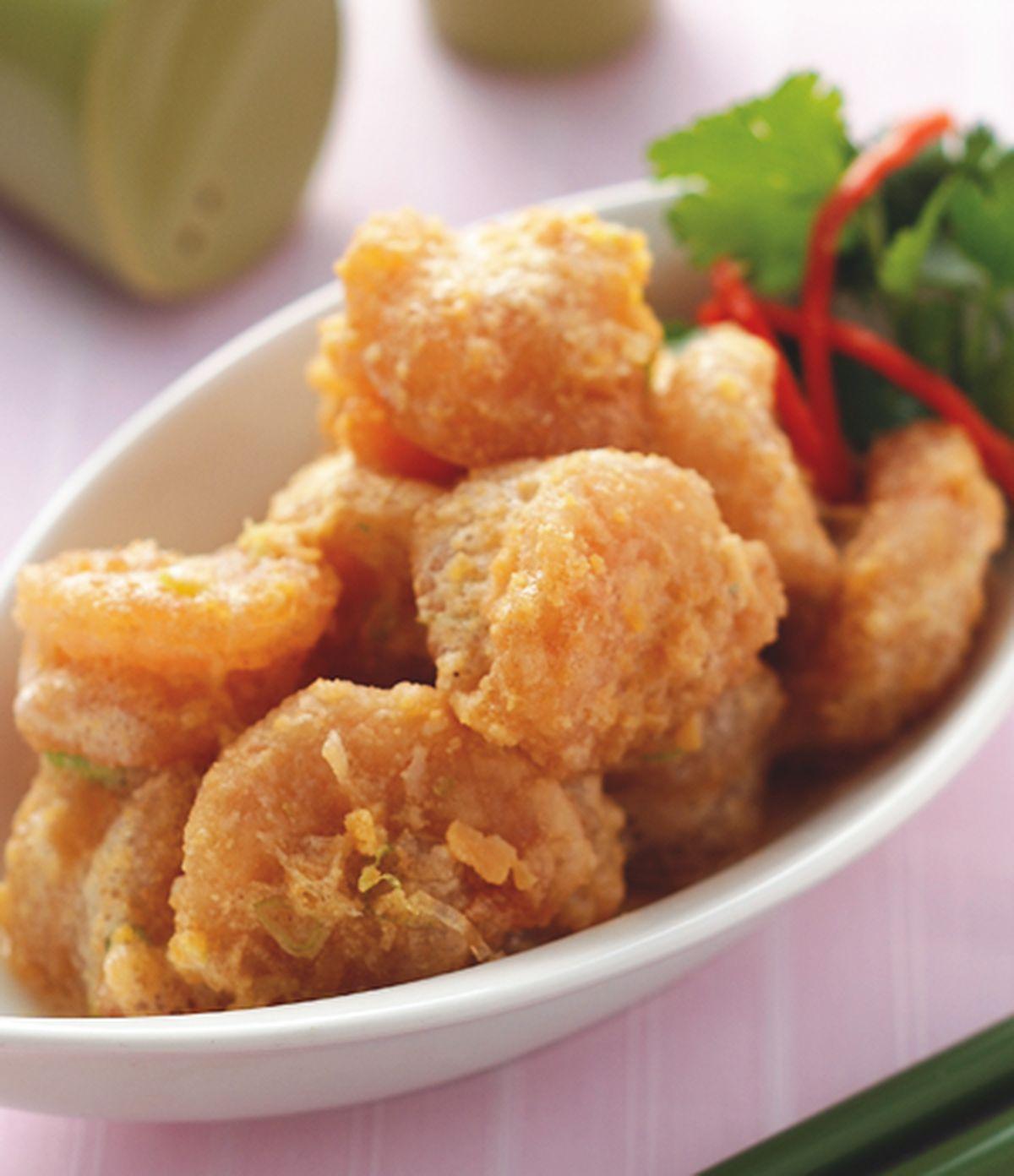 食譜:金沙蝦球