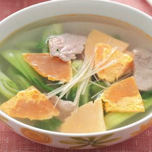 鹹蛋肉片湯