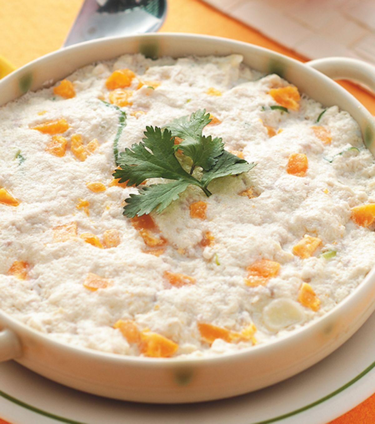 食譜:鹹蛋蒸豆腐