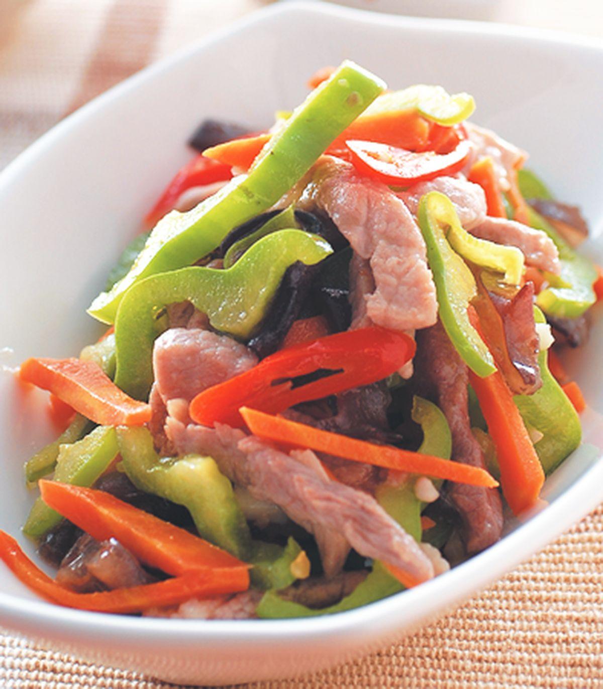 食譜:青椒炒肉絲(1)