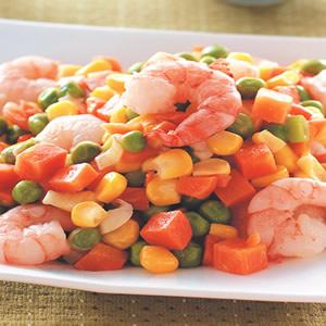 三色蔬菜炒蝦仁