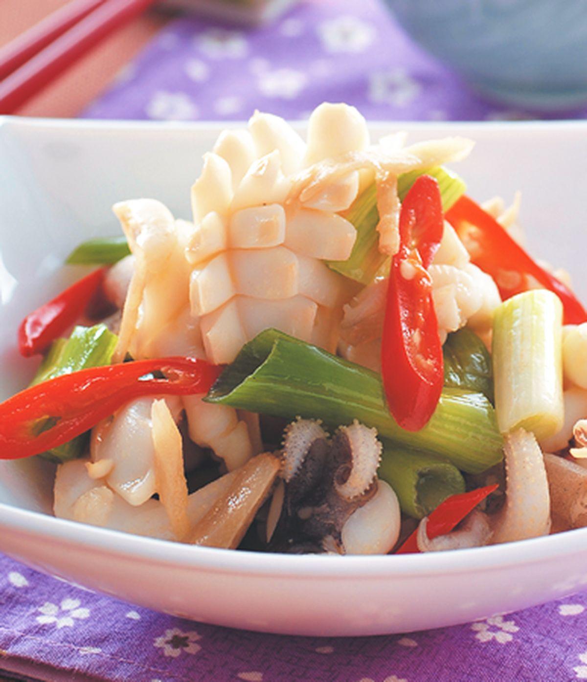 食譜:青蔥炒花枝