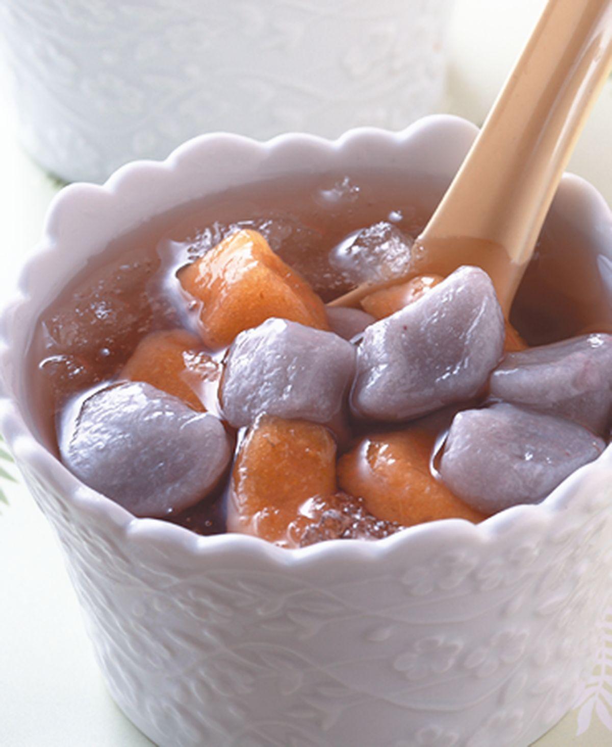 食譜:雙色芋圓冰