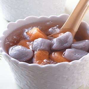 雙色芋圓冰