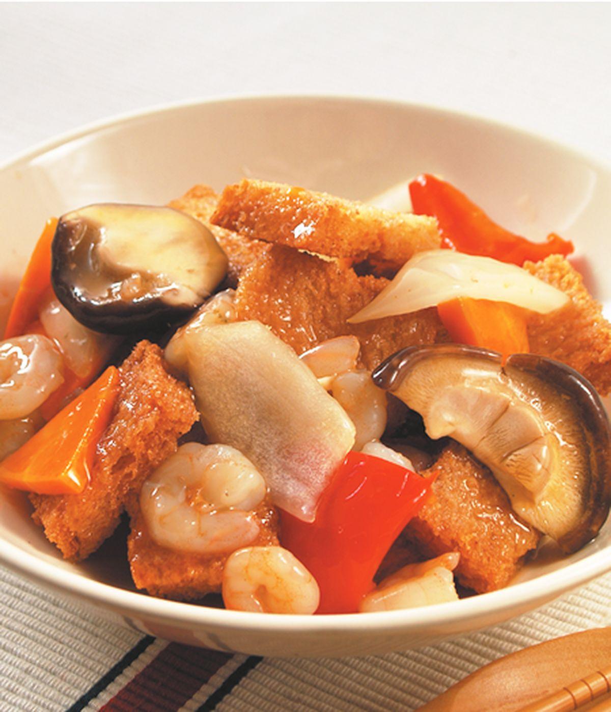 食譜:鍋粑蝦仁