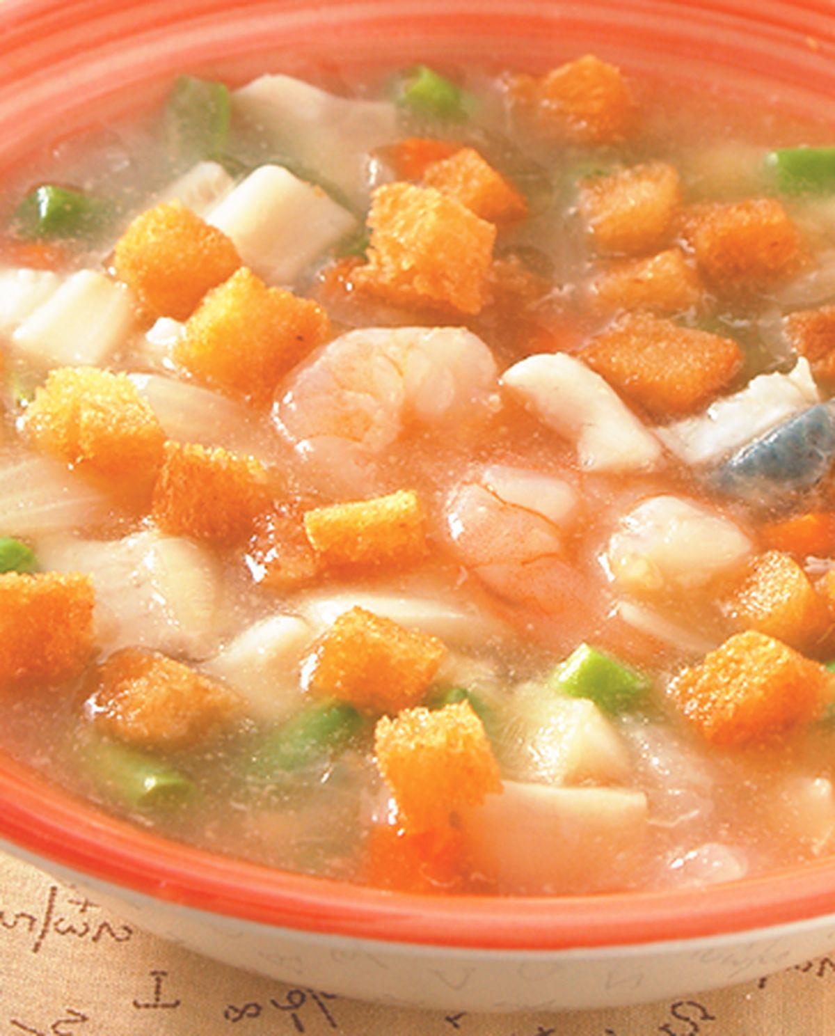 食譜:烤土司濃湯