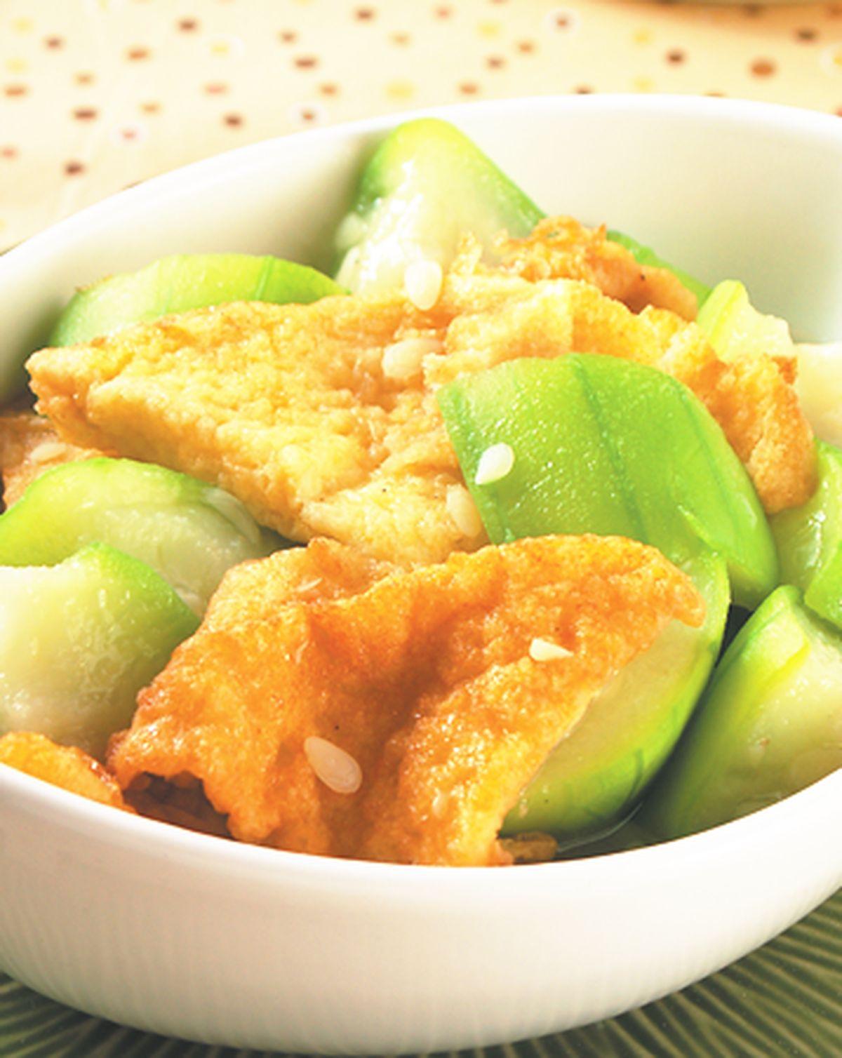 食譜:土司絲瓜