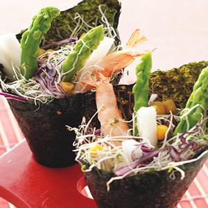 鮮蝦蘆筍手捲