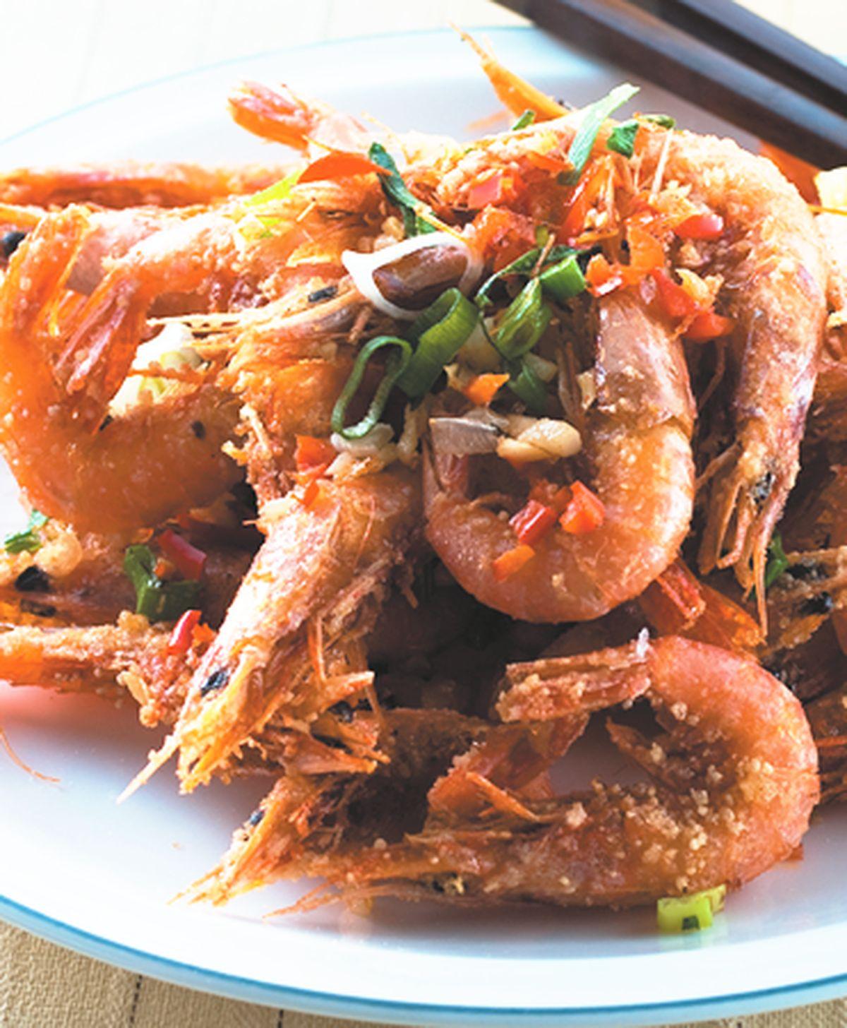食譜:鹹酥劍蝦