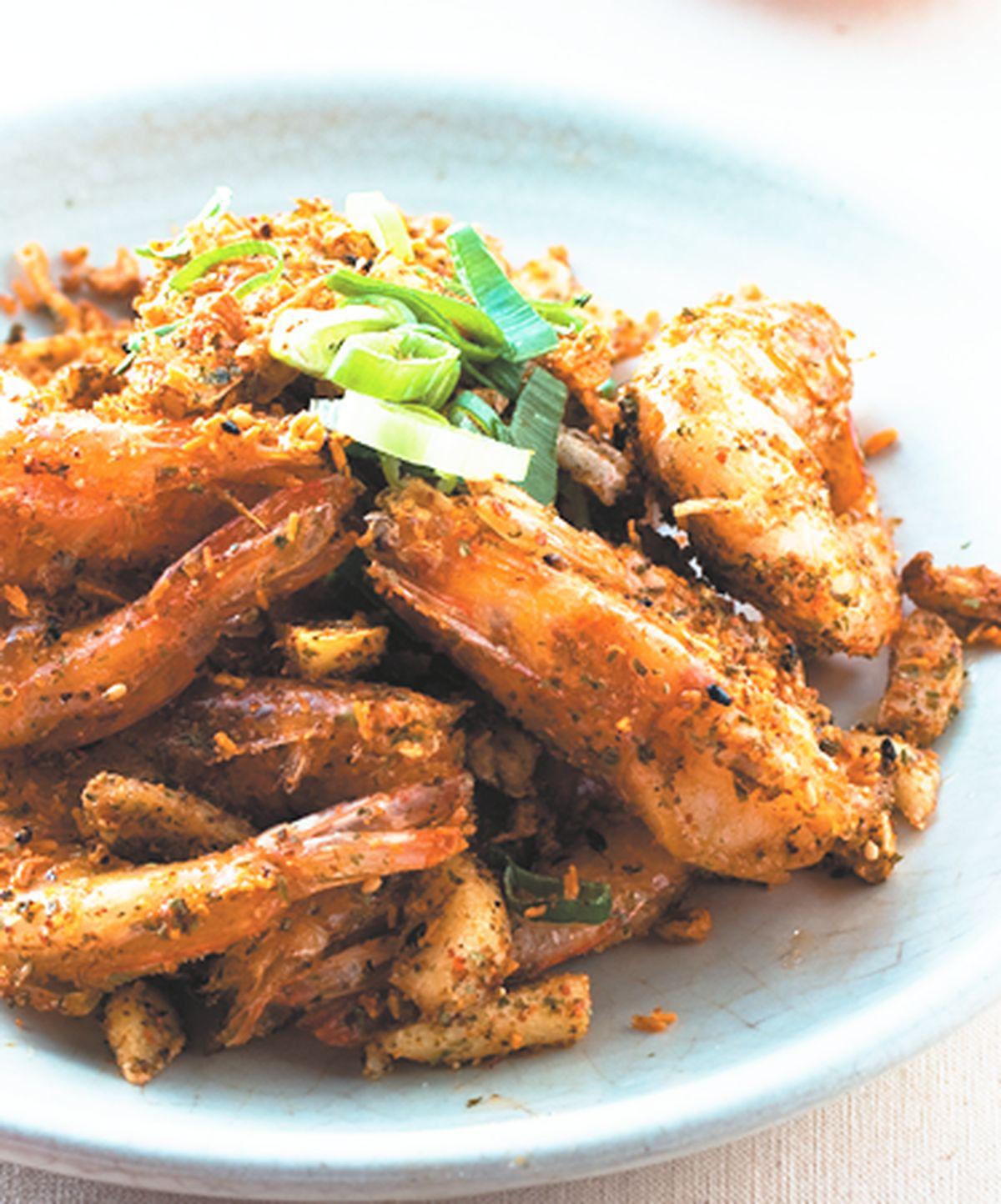 食譜:蒜片椒麻蝦