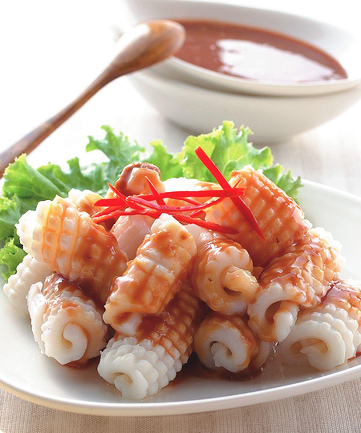 食譜:白灼魷魚