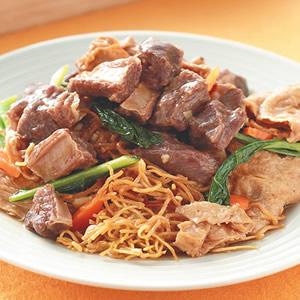 腐竹牛腩炒麵