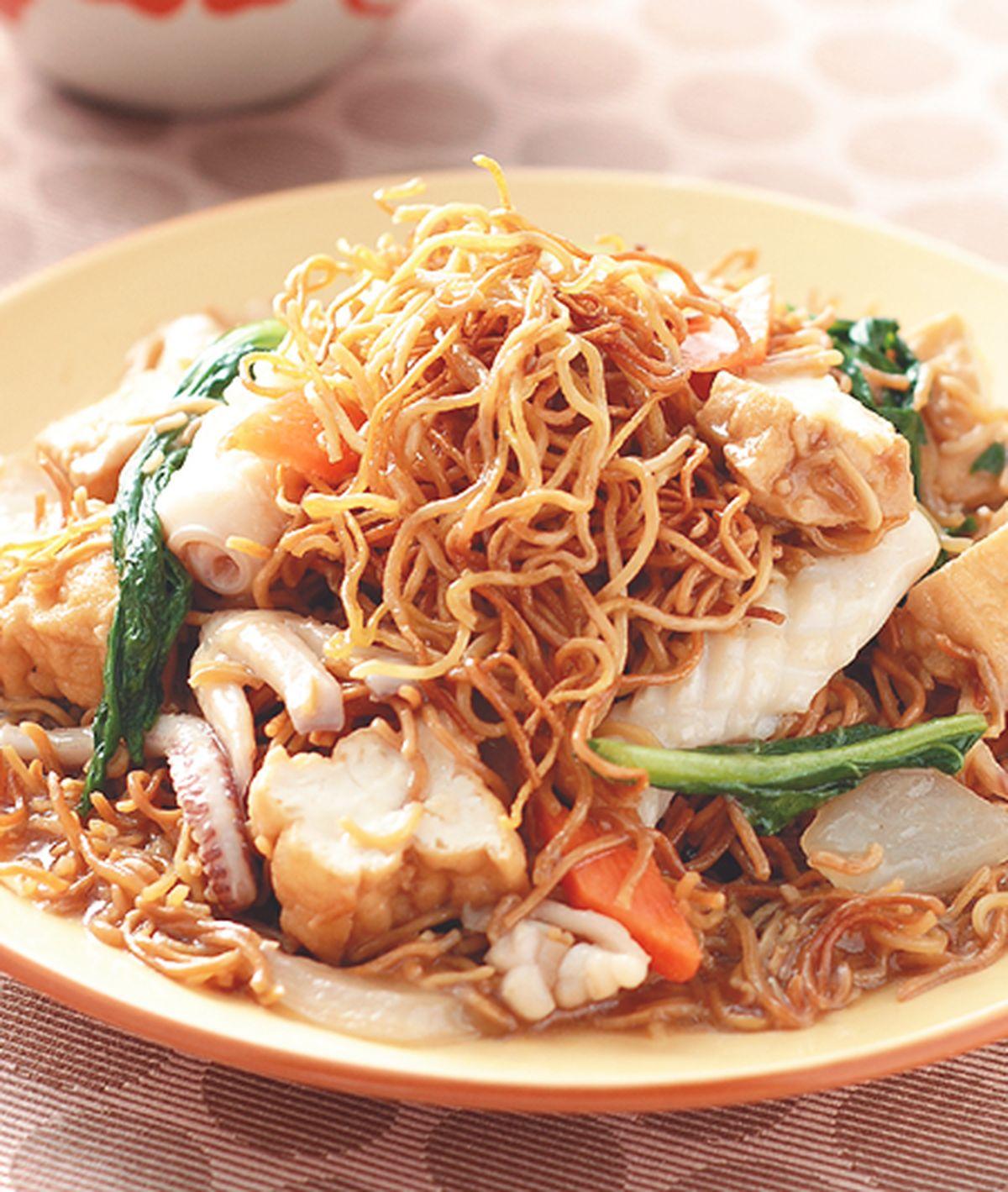 食譜:鮮魷豆腐麵