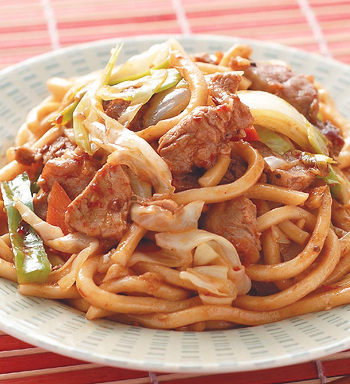 食譜:回鍋肉炒粗麵