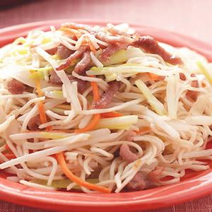 韭黃肉絲炒冷麵